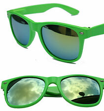 Neon green wayfare with fire yellow mirror lens SUNGLASSES