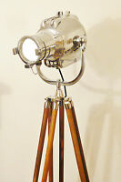 VINTAGE MOVIE THEATRE LIGHT ANTIQUE FLOOR LAMP EAMES STARCK STRAND JIELDE SILVER