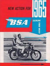 1965 BSA full model line brochure 4 page catalog Lightning, Hornet, Cyclone, C15