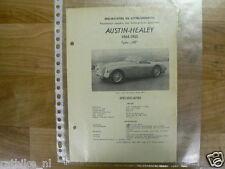 ASH1-AUSTIN HEALEY TYPE 100 1954-1955 TECHNICAL INFO VINTAGE CAR