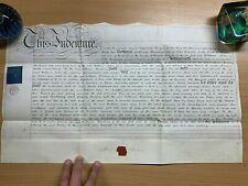 HUGE 2 AUG 1832 1-PAGE LEASE VELLUM INDENTURE - HANBURY (WORCESTER) (LL)