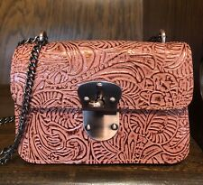 New ListingNwt-Patricia Nash-Metallic Forest Tooled-Laterza-Burnt Coral-Crossbody-$129