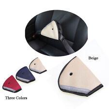 Car Child Safety Cover Shoulder Harness Strap Adjuster Kids Seat Belt Clip Beige