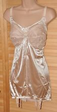 OPEN 1 - Silky stretchy open bottom girdle (OBG) / corselet, BN, 42B, old gold