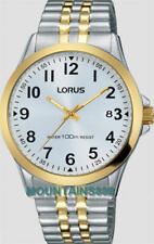 LORUS Watch,Expansion Band,Screw Crown,Date,Stainless Steel,WR100,Mens,RS972CX-9