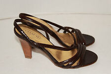 COACH~Brown Leather~STRAPPY~Sandals~HIGH HEELS~Slingbacks~SIZE 7 1/2 B~Exc Cond!