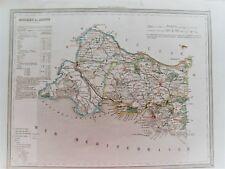 13 Bouches du Rhône carte gravure  Dufour Duvotenay 1860 (75-7)