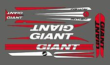 GIANT ANTHEM BIKE FRAME DECAL SET RED/WHITE