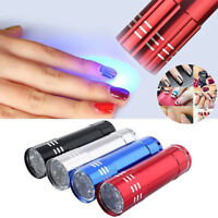 4 Colors Mini LED UV Gel Curing Lamp Light Professional Dryer Nail Flashlight