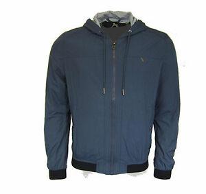 GUESS  Herren,Men,Übergangsjacke,Jacke,Jacket,NEU,NEW,Sportlich,Kapuze,Blau,Blue