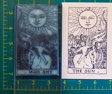 UM Tarot Card rubber stamp #19 The Sun full size