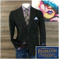 New Pendleton Mens Sport Coat Blazer Size 40R Wool Jacket Two Button