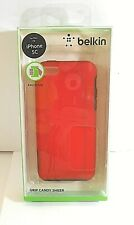 Wholesale Lot Of Ten (10) Belkin Grip Candy Sheer Case for Apple iPhone 5C Red