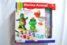 Marine Animal Paint kit 3 Figures w Paints Included New In Box