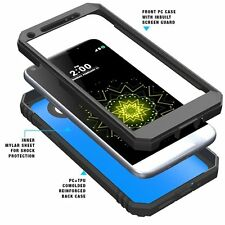 Case For LG G5 POETIC【Revolution】Protective Case w/ Built-In Screen Black