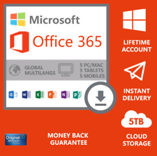 Microsoft Office 365 Pro Plus 2019 5 Devices Lifetime Account Win Mac -New-