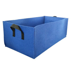 Garden Rectangle Grow Bags Vegetable Planting Container Fabric Pot With Handle