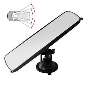 1PC Car Rear View Interior Mirror Adjustable Suction Cup Safety Stable Universal