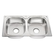 Berühmt Bad- & Küchen-Spülen aus Edelstahl ohne Abtropffläche 2 Becken SQ55