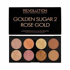 Makeup Revolution coloretes resaltador Bronzer paleta dorado Azúcar