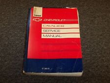 1992 Chevy Cavalier Shop Service Repair Manual Book VL RS Z24 2.2L 3.1L V6