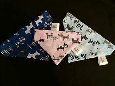 Slide on bandana size M Scottie dog in 4 colours to choose from.  polycotton