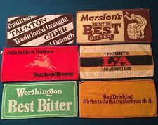 6 Vintage Beer Bar Towels ~ Worthington Skol Marstons Tennents Taunton Mitchells