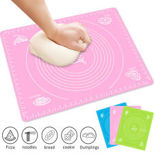 Silicone Non-stick Kneading Rolling Dough Mat Clay Pastry Baking Bakeware Pad US