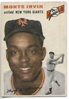 1954 Topps #3 Monte Irvin card, Newark Eagles HOF