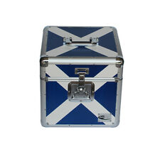 "Neo Zilla 100 LP VINYL 12"" Record DJ Scotland Flag Storage Aluminium DJ Case Box"