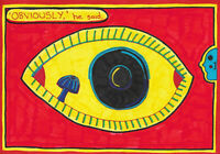 Original Drawing by Jay Snelling. Outsider Art Brut. 'Obviously,' he said.