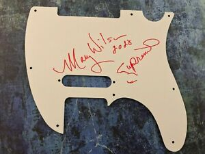 GFA The Supremes Star MARY WILSON Signed Electric Pickguard on Back COA