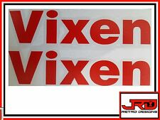 2 x Vixen Vinyl Logo Stickers in Red