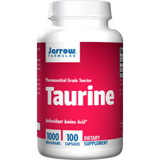 Taurine 1000, 1000mg x 100 Capsules, Heart, Sleep, Blood Sugar - Jarrow Formulas