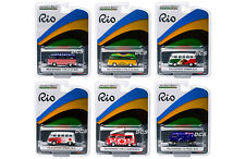 GREENLIGHT RIO 2016  VOLKSWAGEN 1/64 VAN & BUS ASSORTMENT SET OF 6  DIECAST CAR
