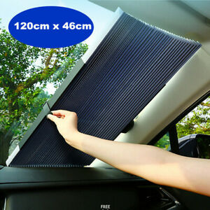 120x46cmRetractable Front Car Window Sun Shade Auto Visor Windshield Block Cover
