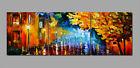 Abstract Wall Decor Art Oil Painting on Canvas NO frame Night Rain Scenery SL179