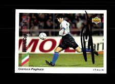 Gianluca Pagliuca Italien UPPER DECK Sammelcard WM 1994 Original Sign+ A 157744