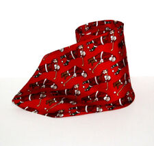 "Hallmark MMG Mens Silk Necktie Red White Christmas Golfing Santas 55"" x 4"""