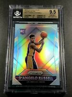 D'ANGELO RUSSELL 2015 PANINI PRIZM #322 SILVER REFRACTOR ROOKIE RC BGS 9.5