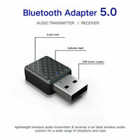 Wireless Bluetooth 5.0 USB Audio Transmitter/Receiver 3.5mm PC/Car TV Adapter