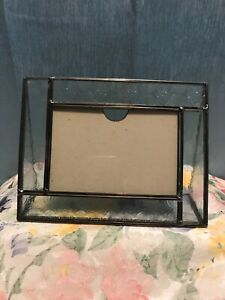 """J. DEVLIN Freestanding 4 x 6"""" Photo Frame Glass With Sides Lead Free"""