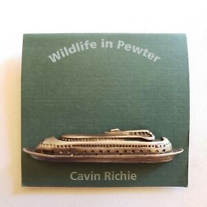 CAVIN RICHIE Pewter Kalakala Ferry Vessel Broch Pin Back Pin
