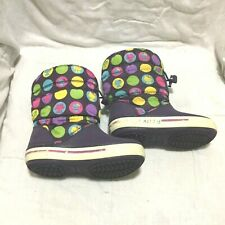 CROCS CROCBAND II.5 GUST BOOT - HELLO KITTY MULTI COLOR ( SIZE 9C ) TODDLER