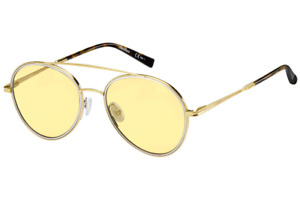 SUNGLASSES MAXMARA WIRE II 06J GOLD Pilot Women's Sunglasses Sonnenbrille Glass