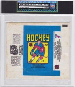 1979-80 O-Pee-Chee NHL Hockey Wax Pack Wrapper iCert GradeEX-NM 6 Gretzky Camera
