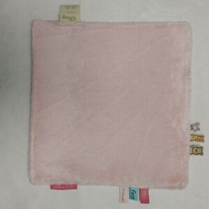 Classic Winnie the Pooh Baby Blanket Tabs Lovey My First Friends Pink