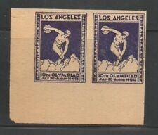 United States Cinderella Los Angeles 1932 Olympics Labels Collection
