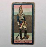 1888 N303 Mayo Costumes of Warriors Soldiers Tobacco Card French Cuirassier 1864