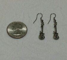 Small GUITAR Earrings Silver